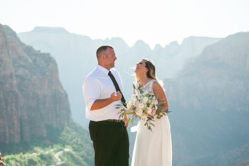 Zion National Park Elopement - Danielle Salerno Photography - Dana and Jason - Adventure Photography , Elopement Photographer