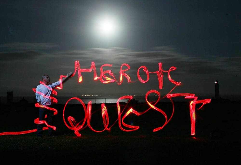 "My mate Phil asked me to make an image for the front cover of his book ""Heroic Quest"". This was the result."