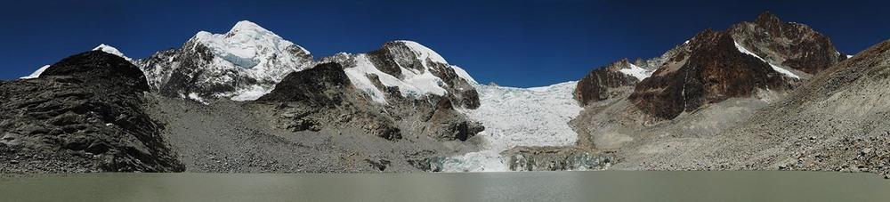 Glacial Lake below Ancohuma , Bolivia
