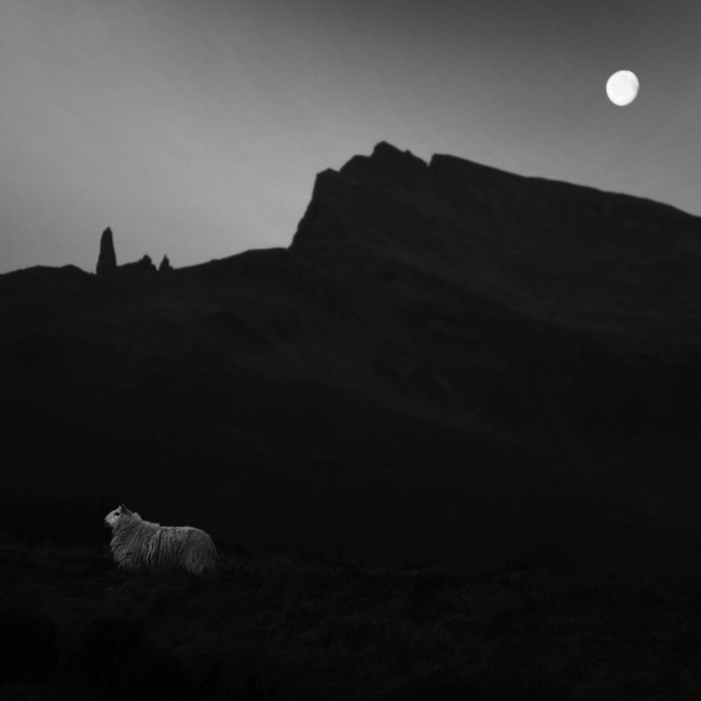 Having spent the day exploring the Old Man of Storr on the Isle of Skye I took this photograph before turning in for the night.