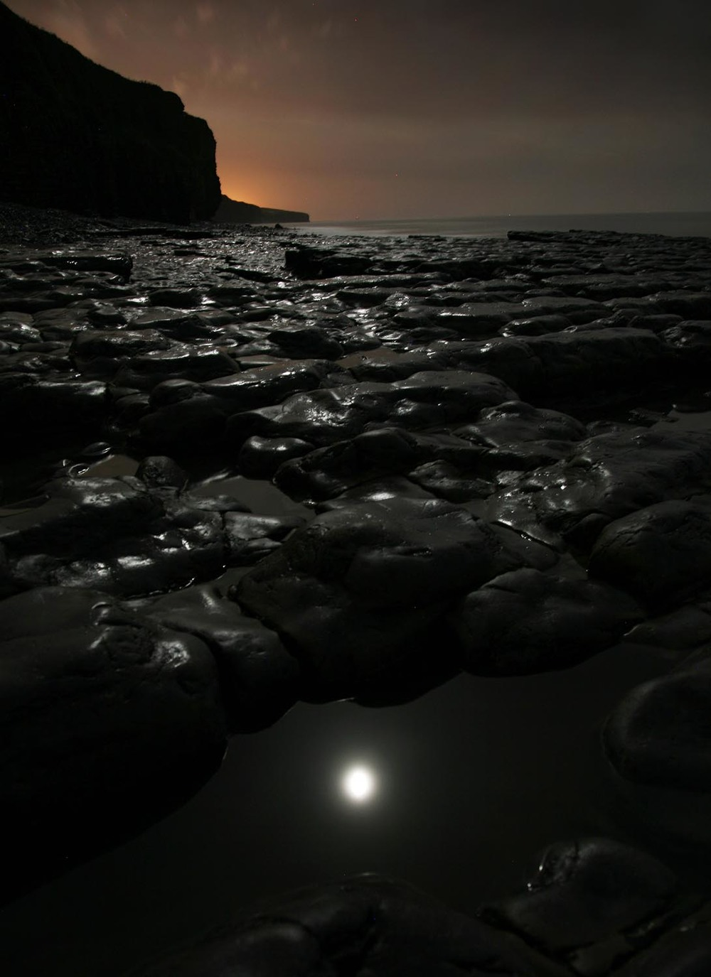 Moon Reflection - Llantwit Major Beach