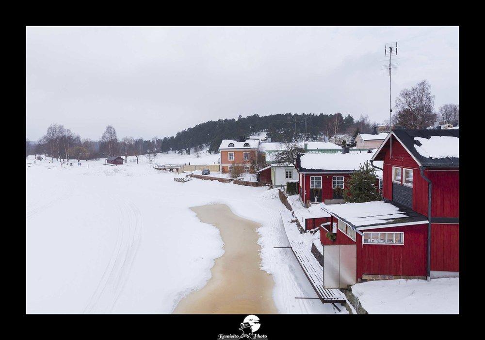 Remicito photo, remicito, image du jour, photo du jour, photo of the day, porvoo finlande belle photo rivière gelée, frozen river porvoo finland, belle photo neige idée cadeau