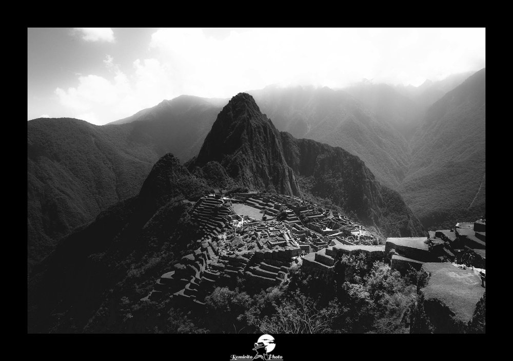 Remicito photo, remicito, image du jour, photo du jour, photo of the day, photo noir et blanc machu picchu, belle photo machu picchu pérou, photo montagne noir et blanc, belle photo idée cadeau