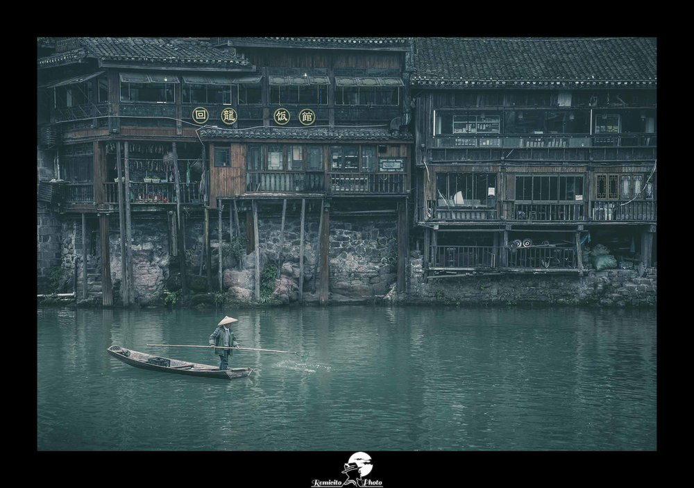Remicito photo, remicito, image photo voyage pêcheur chine, belle photo voyage chine, photo du jour, fenghuang chine belle photo pêcheur, rivière chine, belle photo idée cadeau