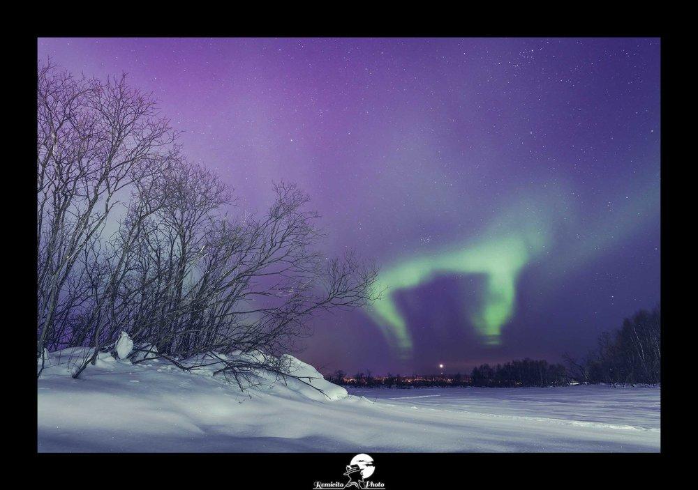 Remicito photo, remicito rémi lacombe photographe voyage, belle photo idée cadeau aurores boréales, aurores boréales finlande cercle polaire