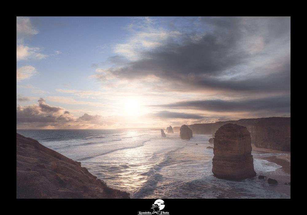 remicito photo, remicito, photographe remicito rémi lacombe, photo 12 apôtres australie coucher de soleil, belle photo australie great ocean road, idée cadeau belle photo océan coucher de soleil