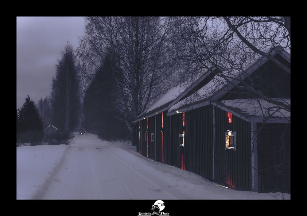 Remicito photo, remicito rémi lacombe photographe paris, belle photo neige finlande, exposition Paradis blanc galerie du Montparnasse Remicito, idée cadeau belle photo neige route