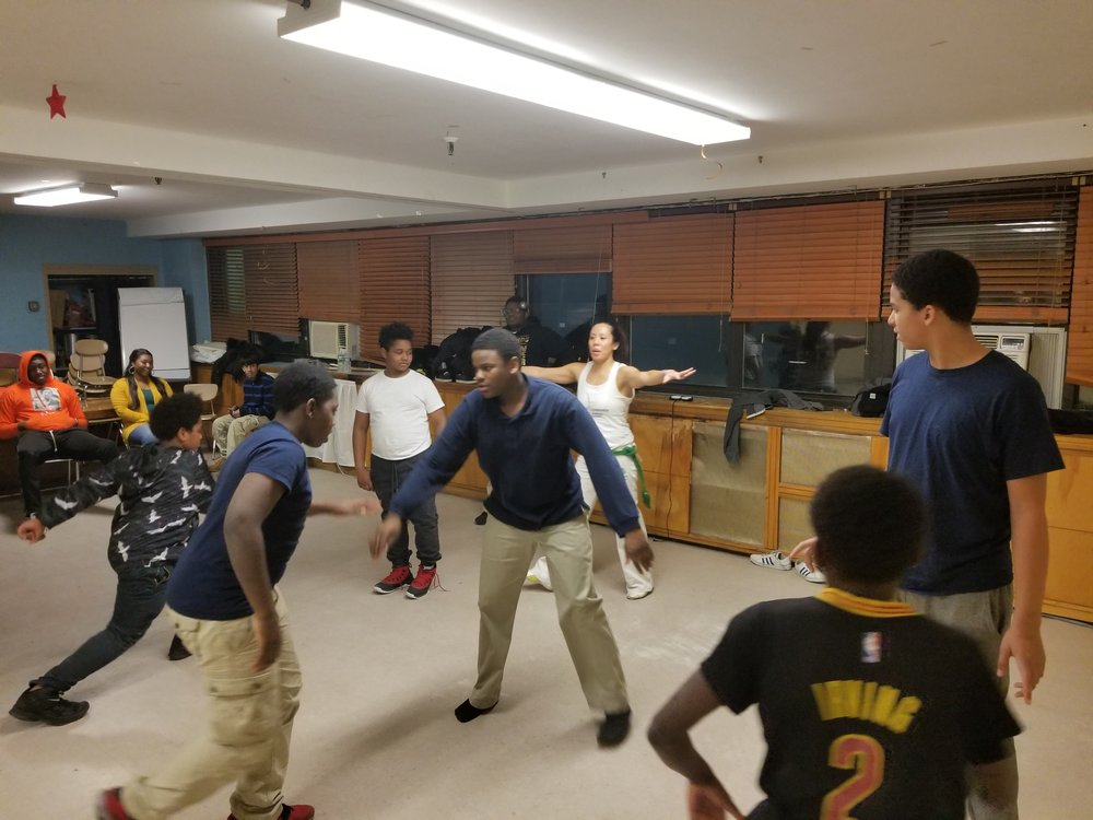 Capoeira Workshop at St. John's Residence for Boys in the Rockaways. March 2018.