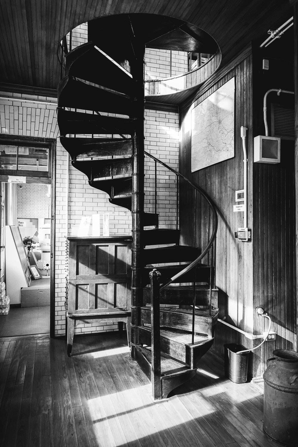 Spiral Staircase Inside Plaquemine Lock House