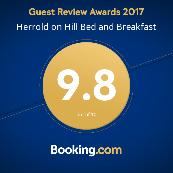Herrold on Hill Bed and Breakfast, 2017 award from Booking.com.png