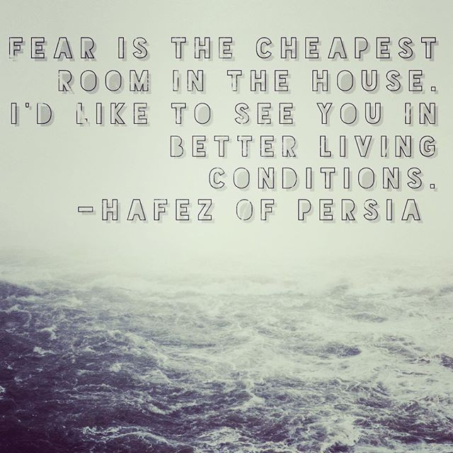 What he said. Always and in all ways.  #loveoverfear #thoughtfulthursday #hafiz #whatsyourhouselike