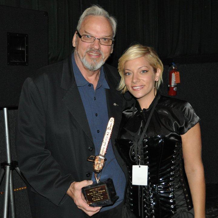 Award from  Horrific Film Fest 2009 right is Angela Tropea of Naked Horror.jpg