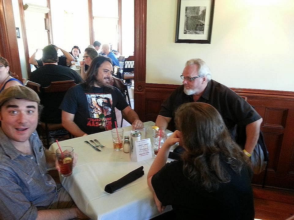 tec2 housecore dinner at Kingsland TCM1 house now a restaurant LtoR Duane Graves, Justin Meeks, Bill Johnson.jpg