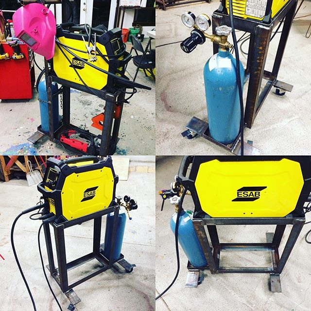 The shop's new #welding #cart for the #esab #welder. #goingportable #wheelsoneverything