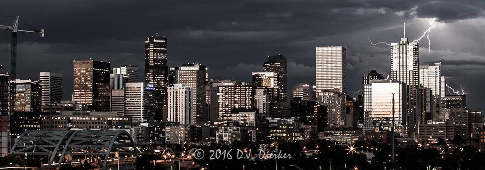 Denver Cityscape By D.J. Dierker