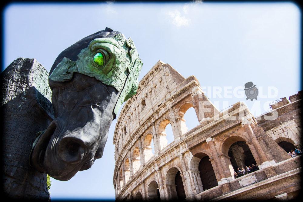 colosseum-horse-rome