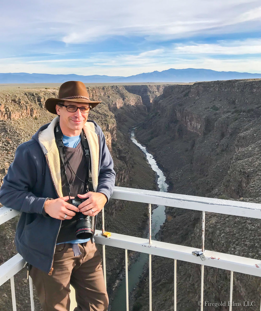 D.J. Dierker at the Rio Grande Gorge