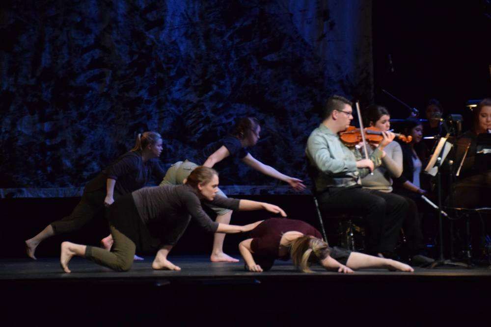 """cutting-edge"" - Diana Nollen,  The Gazette   ""ultimately a very structured, articulate marriage of dance, music and art"" - Zach Berg,  Iowa Press-Citizen"