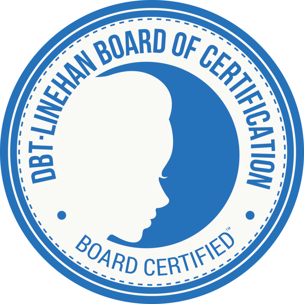 As of August 2017, I am proud to say that I am a  DBT-Linehan Board of Certification, Certified Clinician™   , and am one of a small group of clinicians that hold this certification in the state of New Jersey.