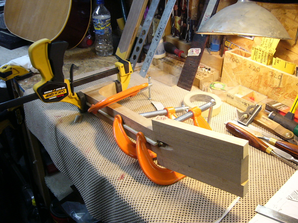 Gluing up a neck blank