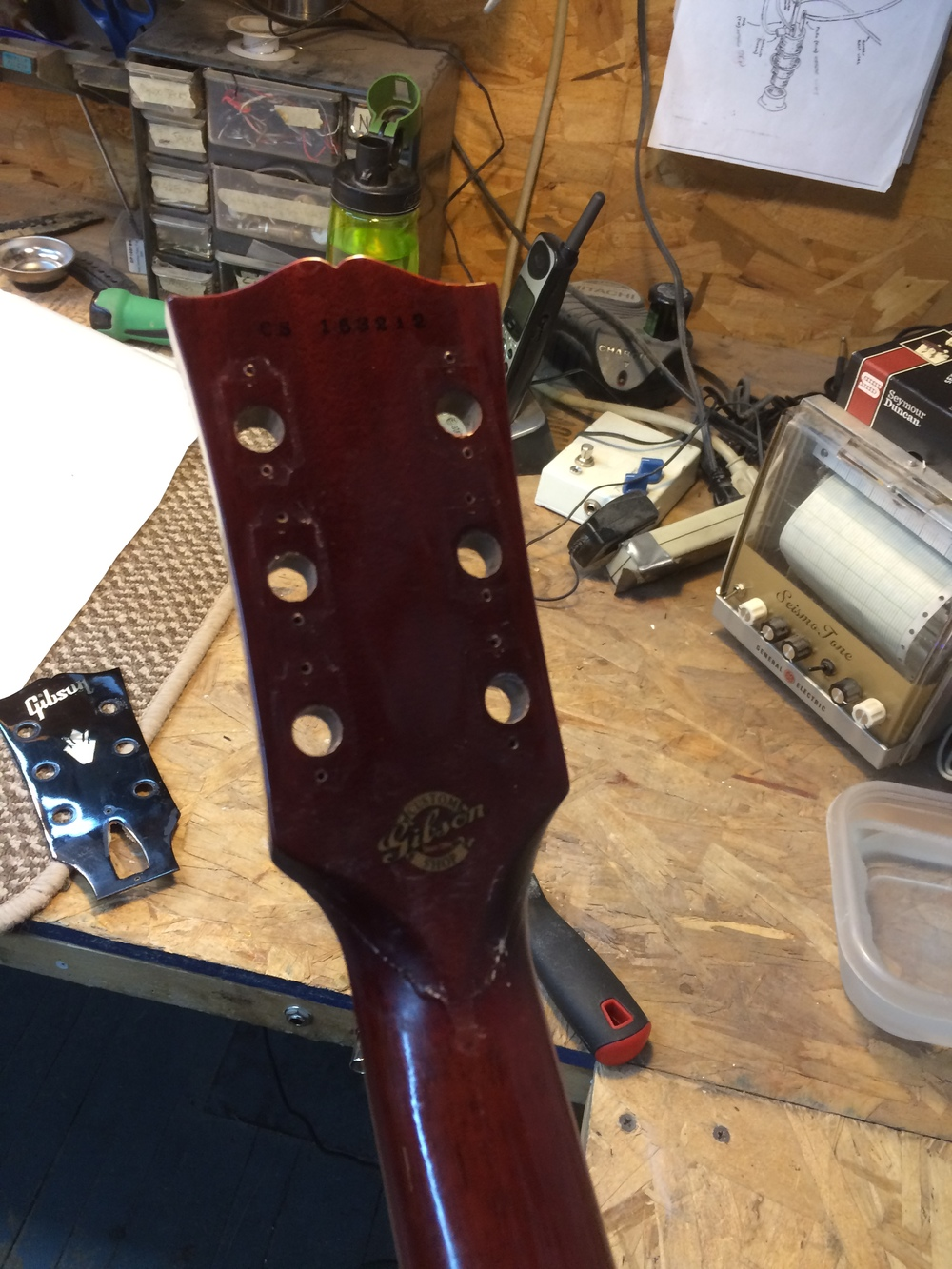 Reglued Headstock