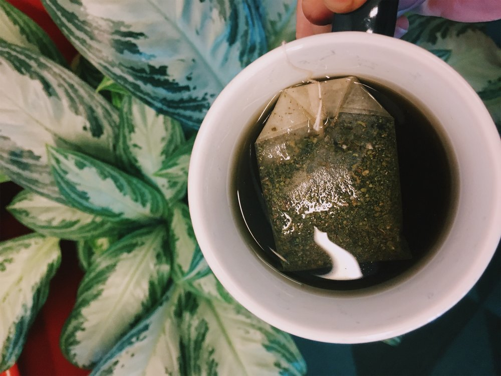 10:30 am. Peppermint tea. Fighting the urge for coffee #3!
