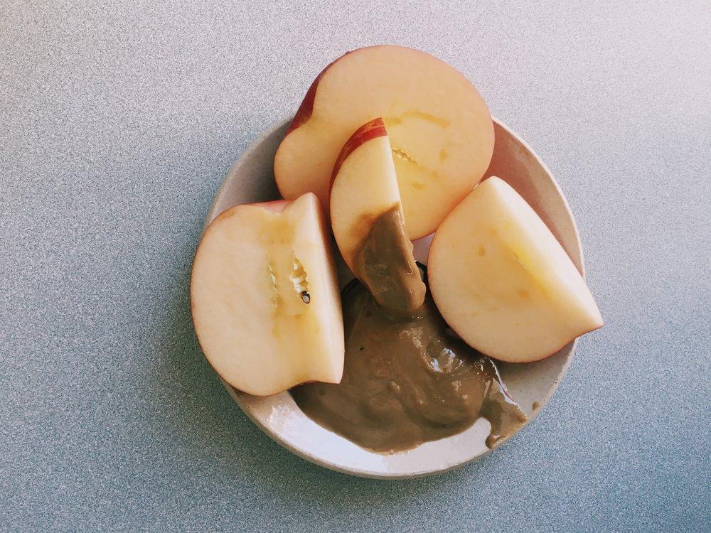 5:00 pm - organic apple with 2 tbsp  sun butter