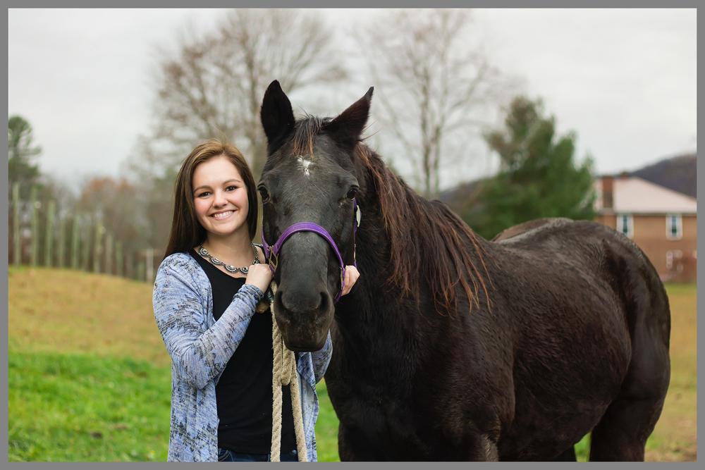 Horizontal Senior Pose with Horse