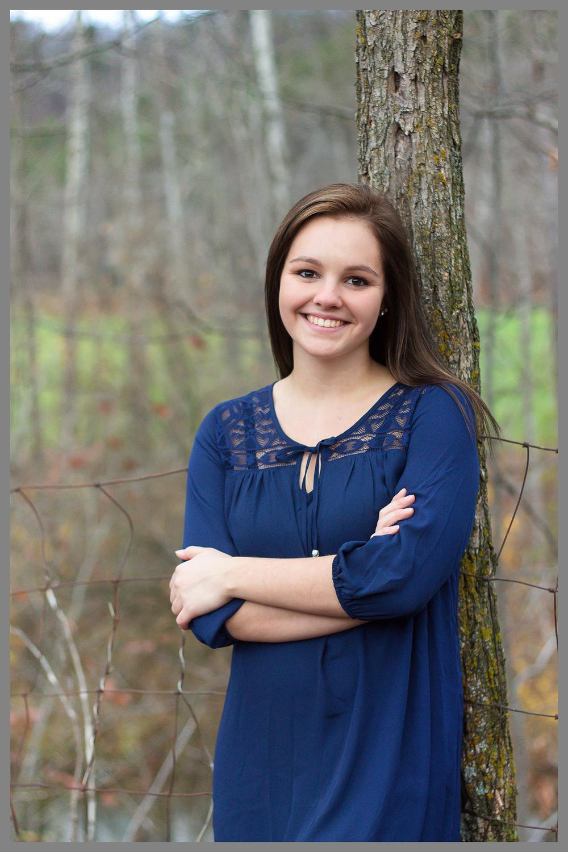 Fall Senior Photography Tree Pose