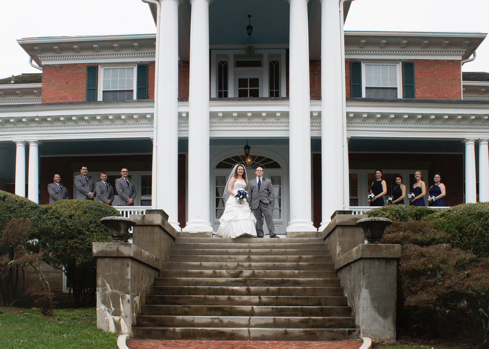 Bridal Shot spanning length of the Hill Crest Porch