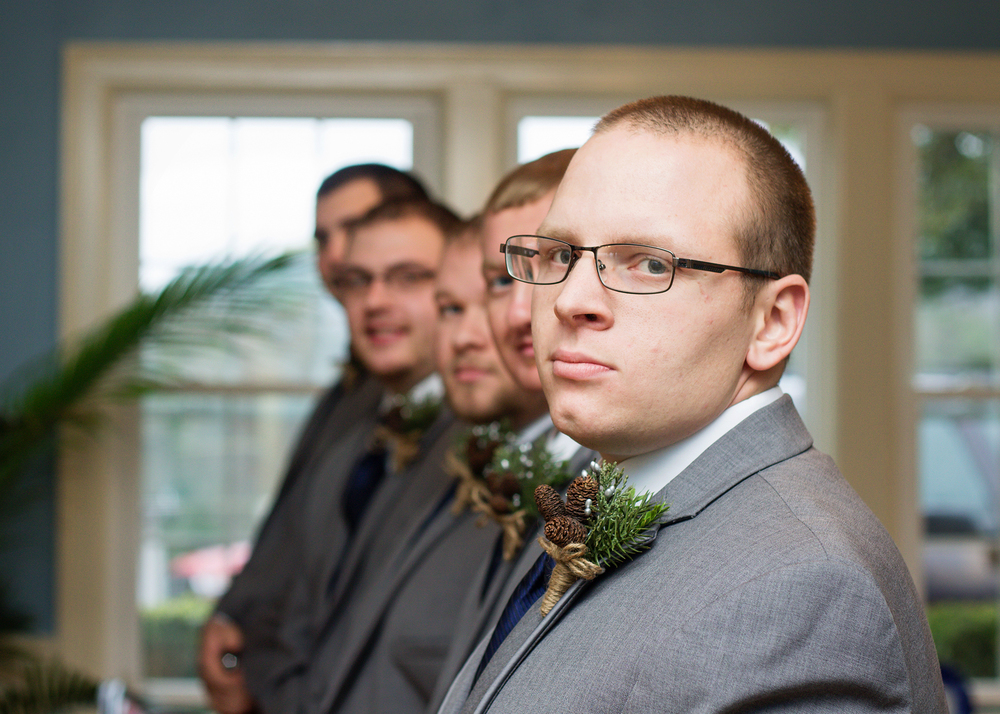 Groomsmen Waiting for the Ceremony
