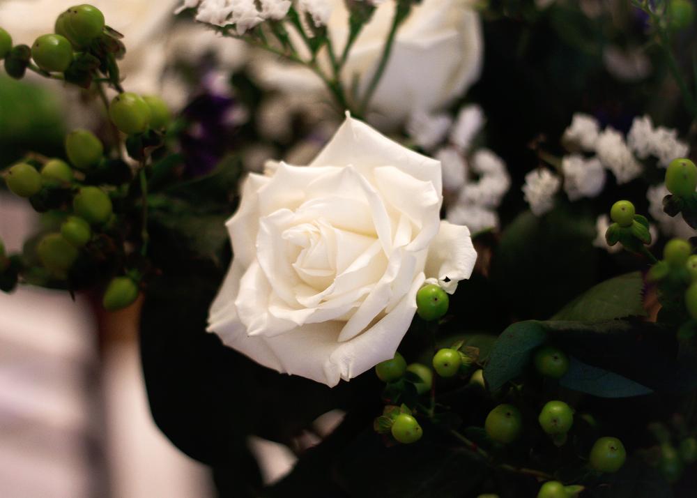 Wedding Day Details, Rose Arrangement