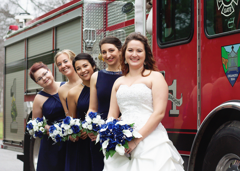 Bridesmaid Firefighter Pose