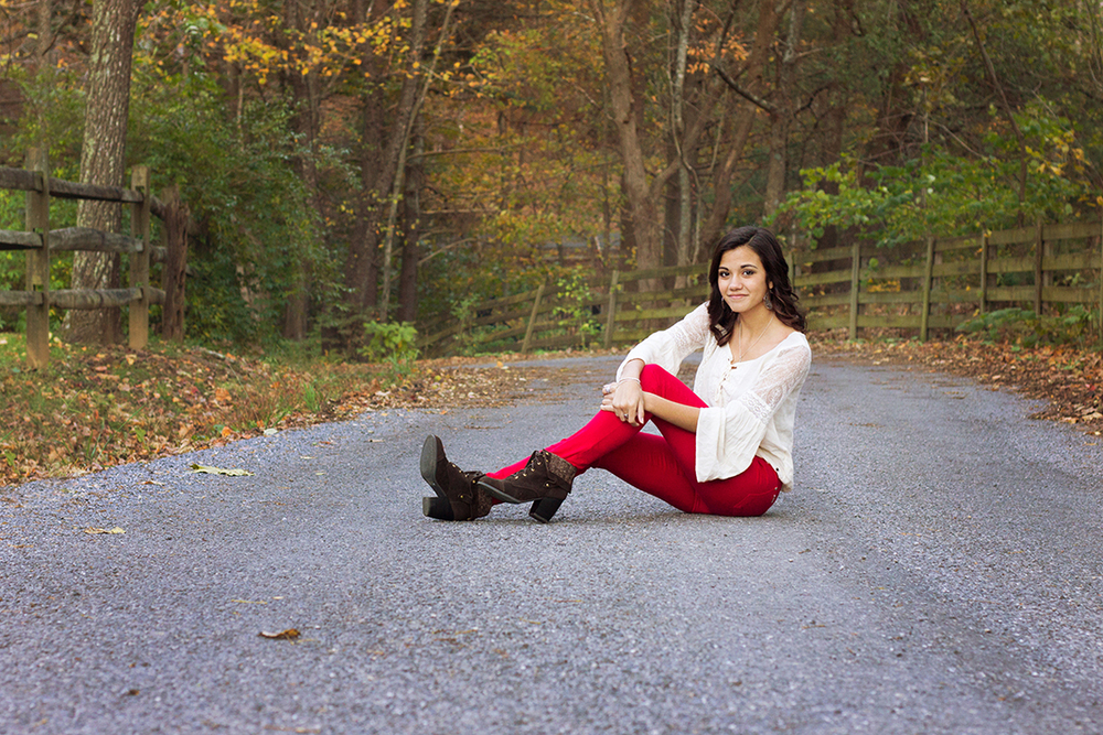 Senior Rep Outdoor Pose showing personality