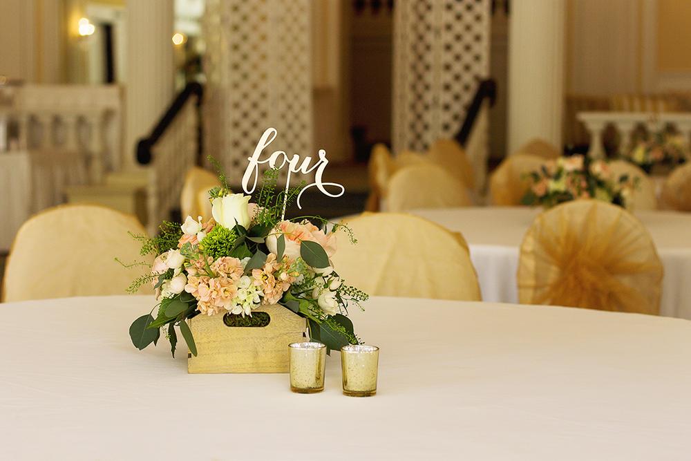 Wedding Flower Centerpiece | Homestead Resort | N. Nicely Photography | Alleghany County, Virginia