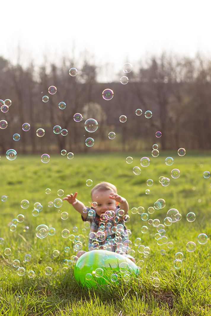 Easter Themed Toddler Lifestyle Shoot with Bubbles | Alleghany County Photographer | N. Nicely