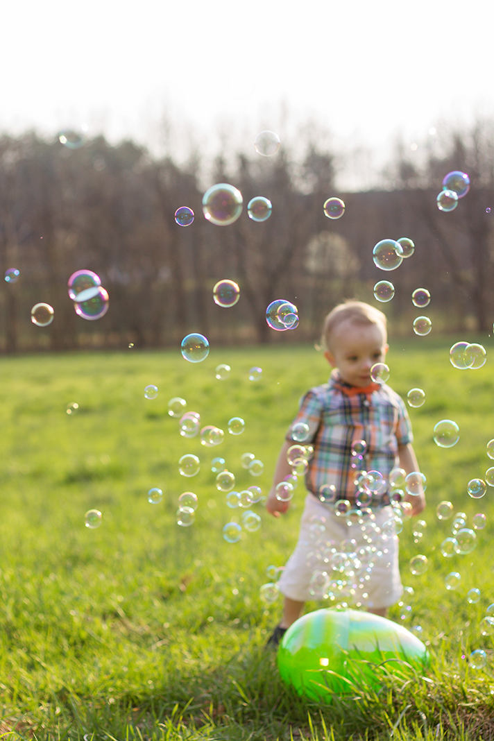 Easter Themed Toddler Lifestyle Shoot with Bubbles at Sunset | Clifton Forge Photographer | Blog - N. Nicely Photography