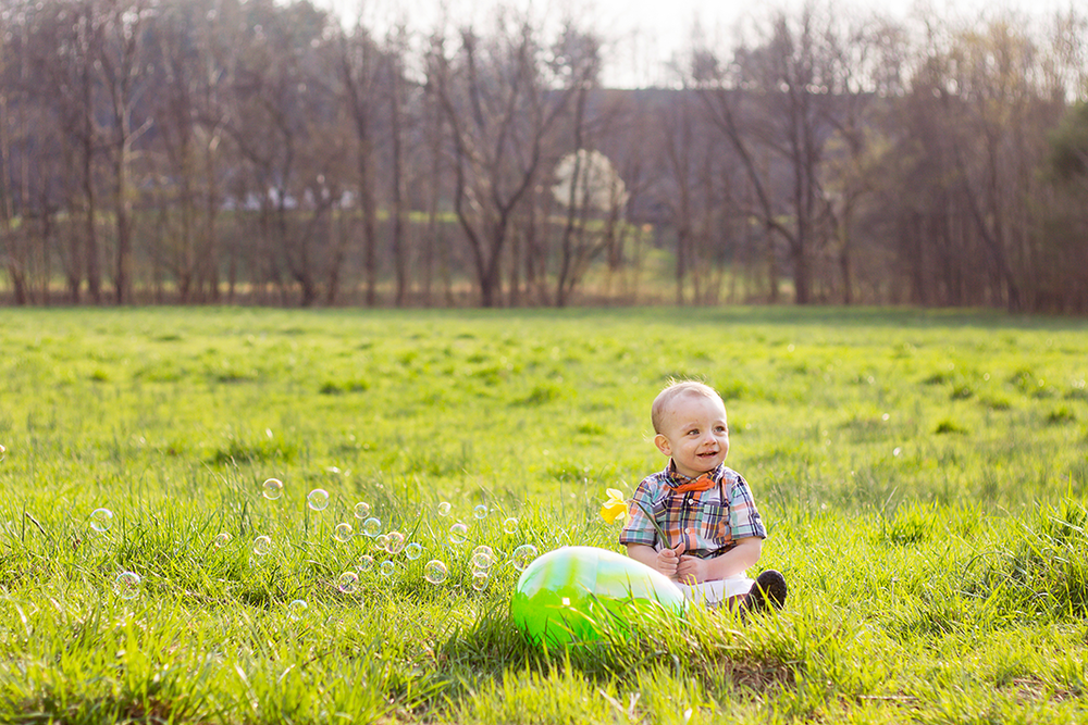 Easter Themed Lifestyle Toddler Shoot at Sunset | N. Nicely Photography
