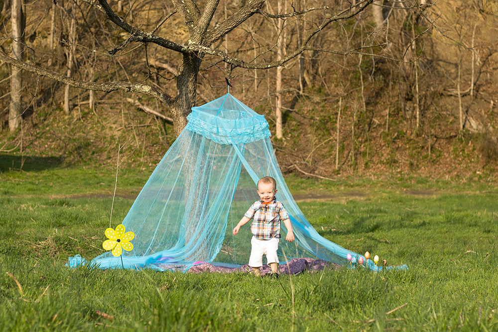 Easter Themed Toddler Lifestyle Shoot at Sunset | Lifestyle Photographer | Alleghany County