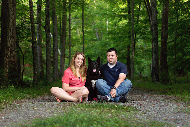 Engagement-Session-Woods-Dog-Staunton-Virginia