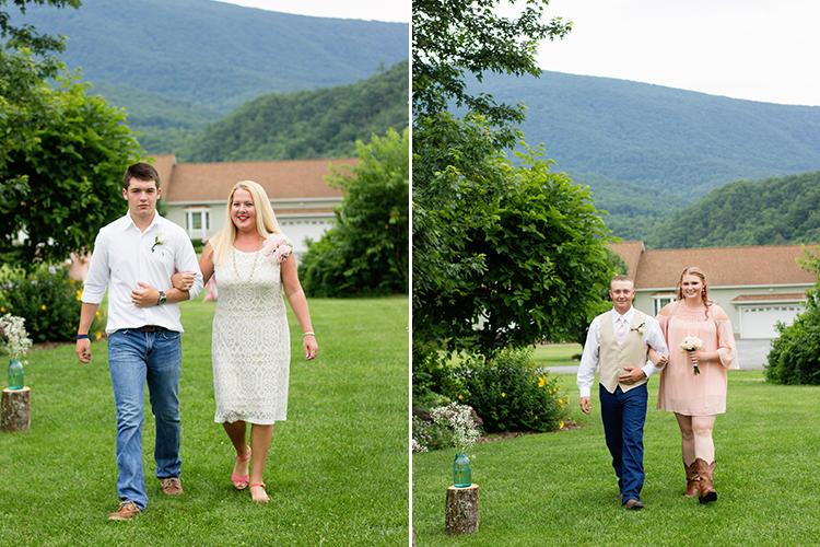 wedding-photographers-staunton-virginia-coming-down-aisle