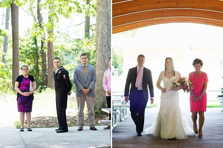 covington-virginia-wedding-photographers-first-look-walking-down-aisle