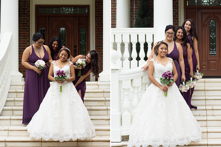 bella-rose-plantation-wedding-lynchburg-virginia-bride-posing-with-bridesmaids-outside