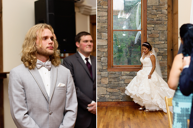 bella-rose-plantation-wedding-lynchburg-virginia-groom-seeing-bride-walk-down-aisle