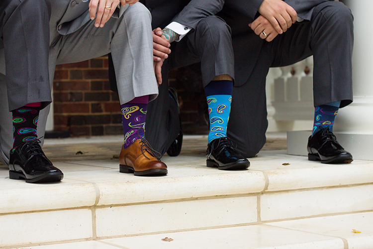 bella-rose-plantation-wedding-lynchburg-virginia-groomsmen-coordinating-socks-pose