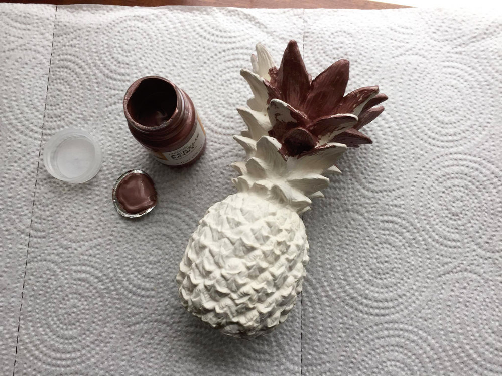 pineapple diy project beginning first coat