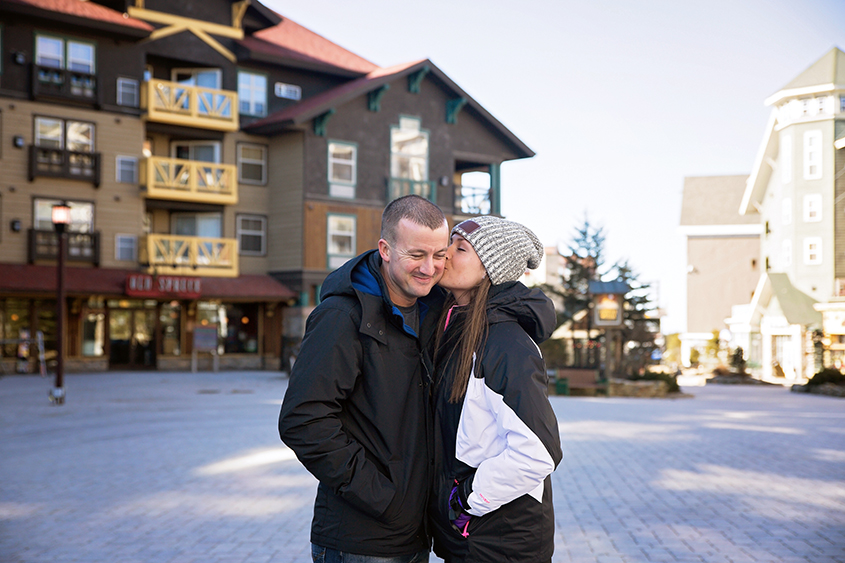 Wintertime Proposal Engagement at Snowshoe in West Virginia | N. Nicely Photography