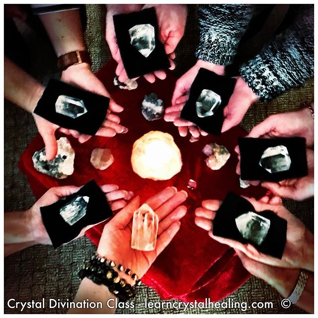 A photo from the crystal divination class that I taught yesterday. It was a fabulous group of students and they did an amazing job doing crystal divination reading! 🌟😊👍#learncrystalhealing #crystalhealing #crystaldivination #crystalgazing #quartzcrystal #quartzdivination
