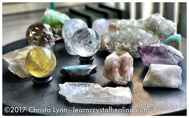 Putting my crystals out for the solar eclipse today to soak up all of that healing solar/lunar energy! #crystalhealing #learncrystalhealing #crystals #healingcrystals #healingstones #amethyst #psychicprotection #healingstones