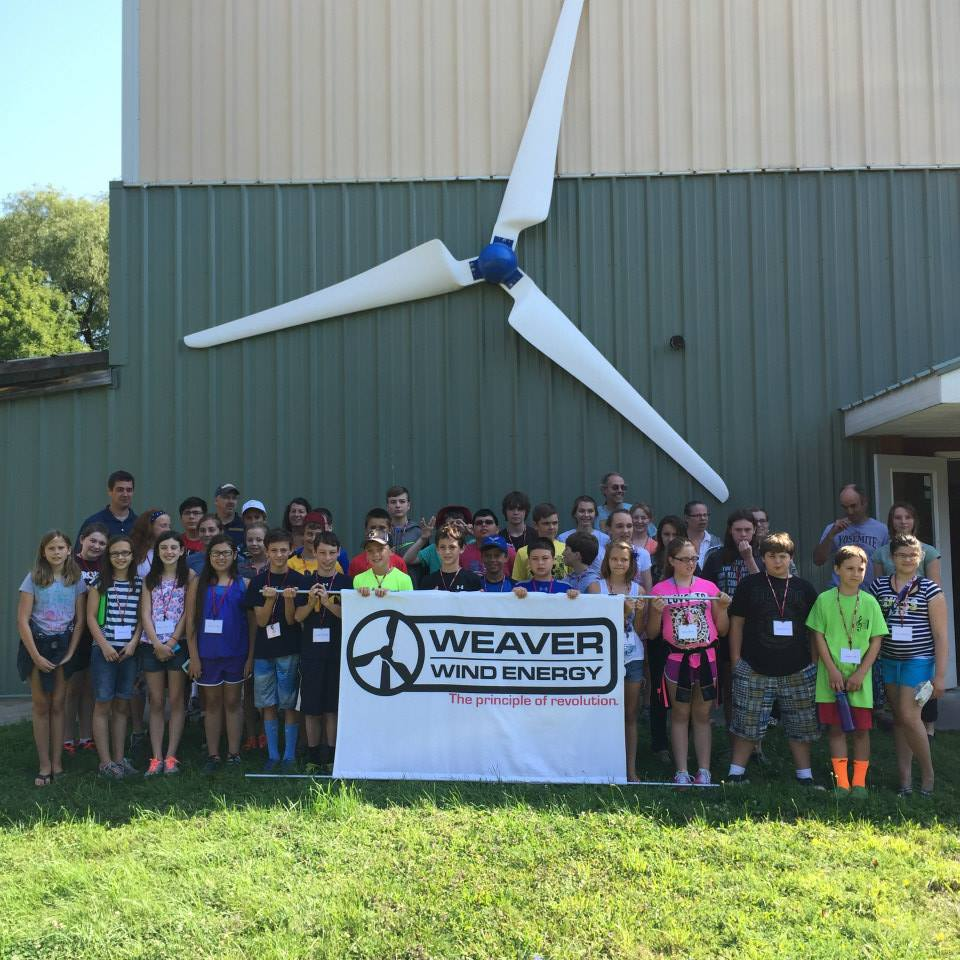 Grade students visit Weaver Wind Energy facility. wind power, wind energy, wind turbine. renewable energy.
